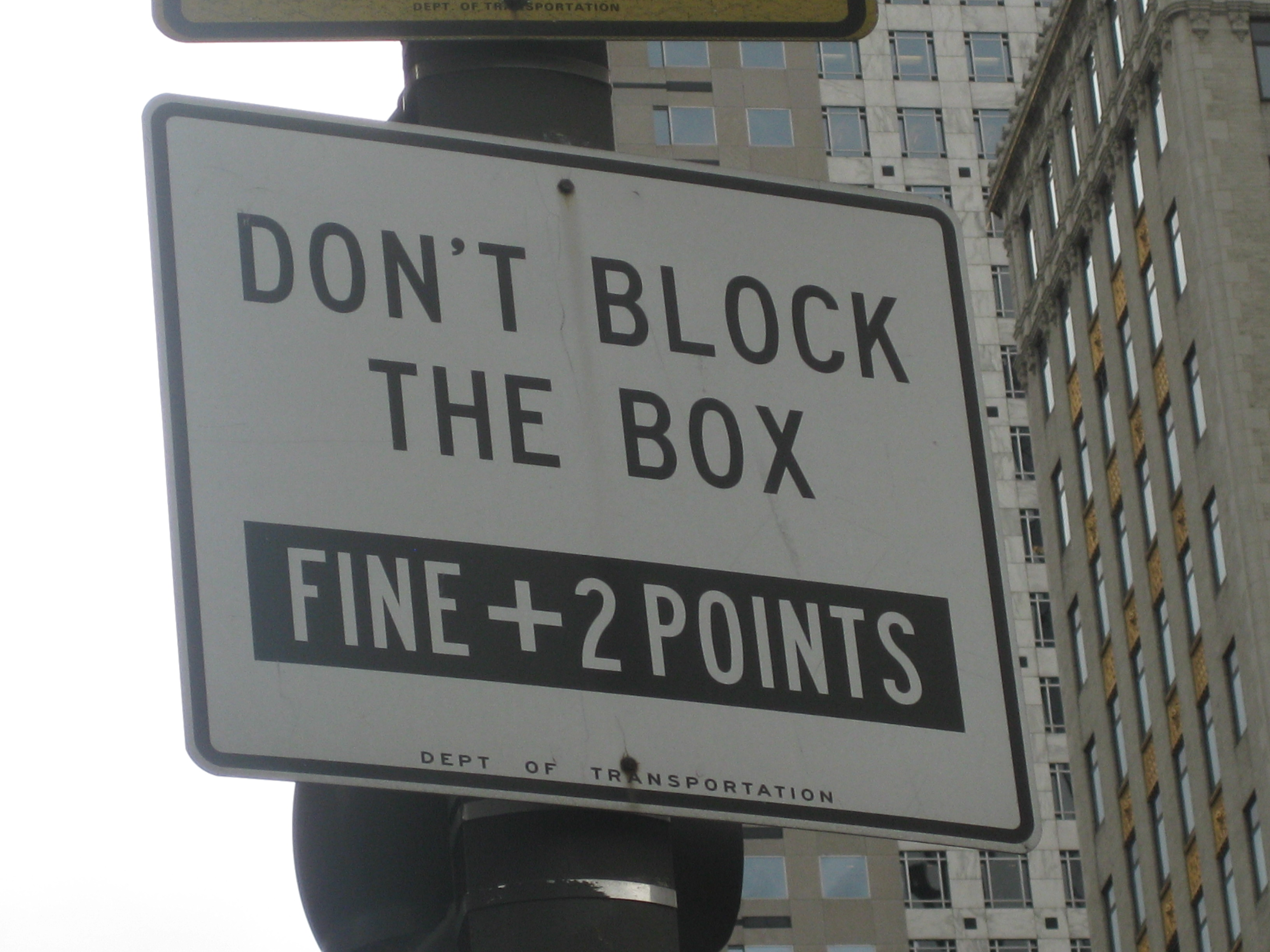 Blocking The Box aka Gridlocking No Longer A Moving Violation In