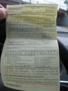 New York Traffic Ticket For Disobeying A Traffic Control Device